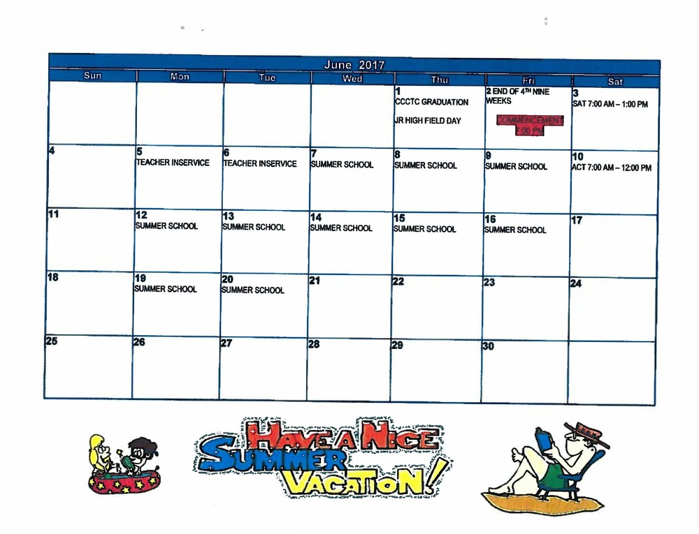 June Events Calendar