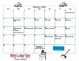 January Events Calendar