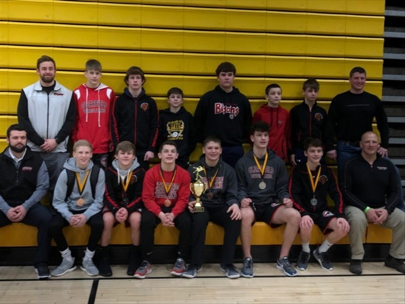 Clearfield Junior High Wrestling Team Places Third at North Allegheny