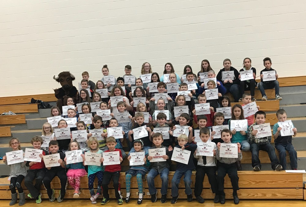 Clearfield Area Elementary School January Students of the Month