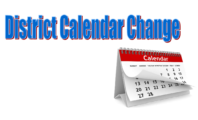 Changes in School District Calendar