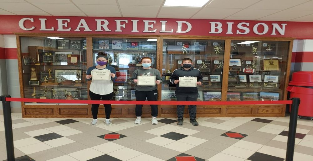 Clearfield Area Junior/ Senior High School January Students of the Month Group A