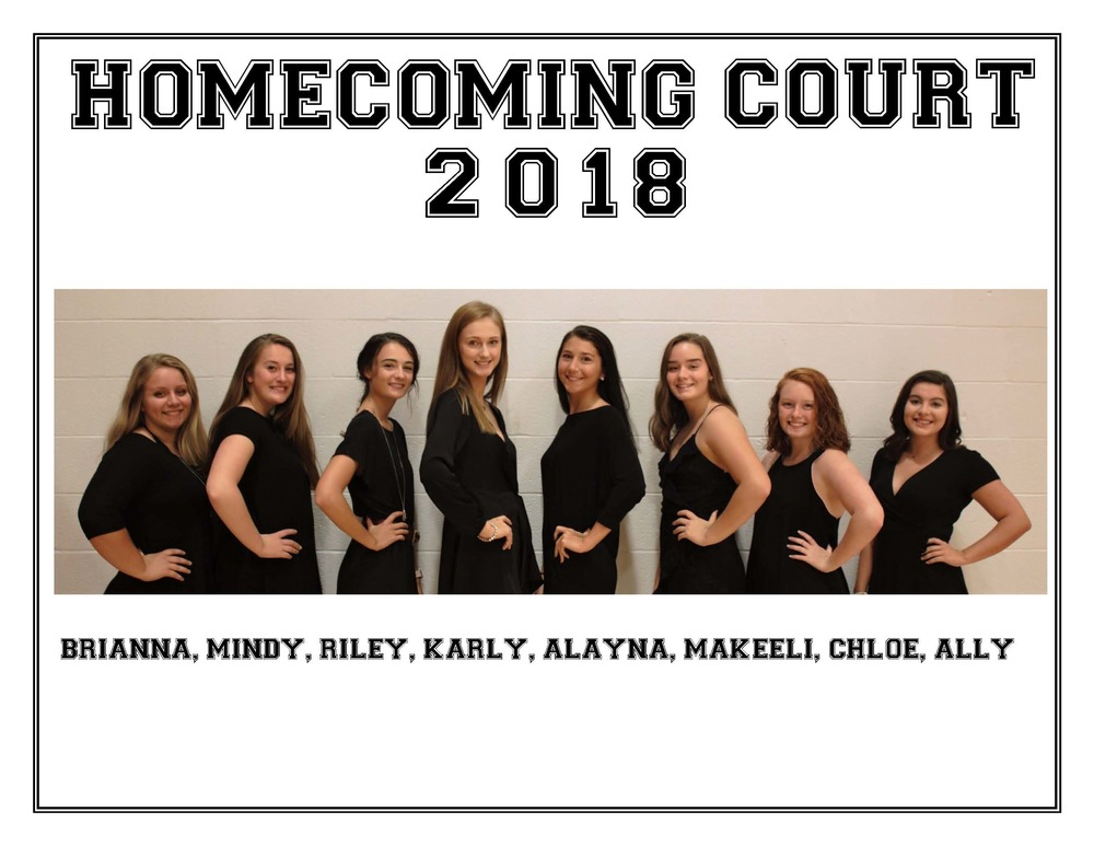 CAJSHS 2018-19 Homecoming Court
