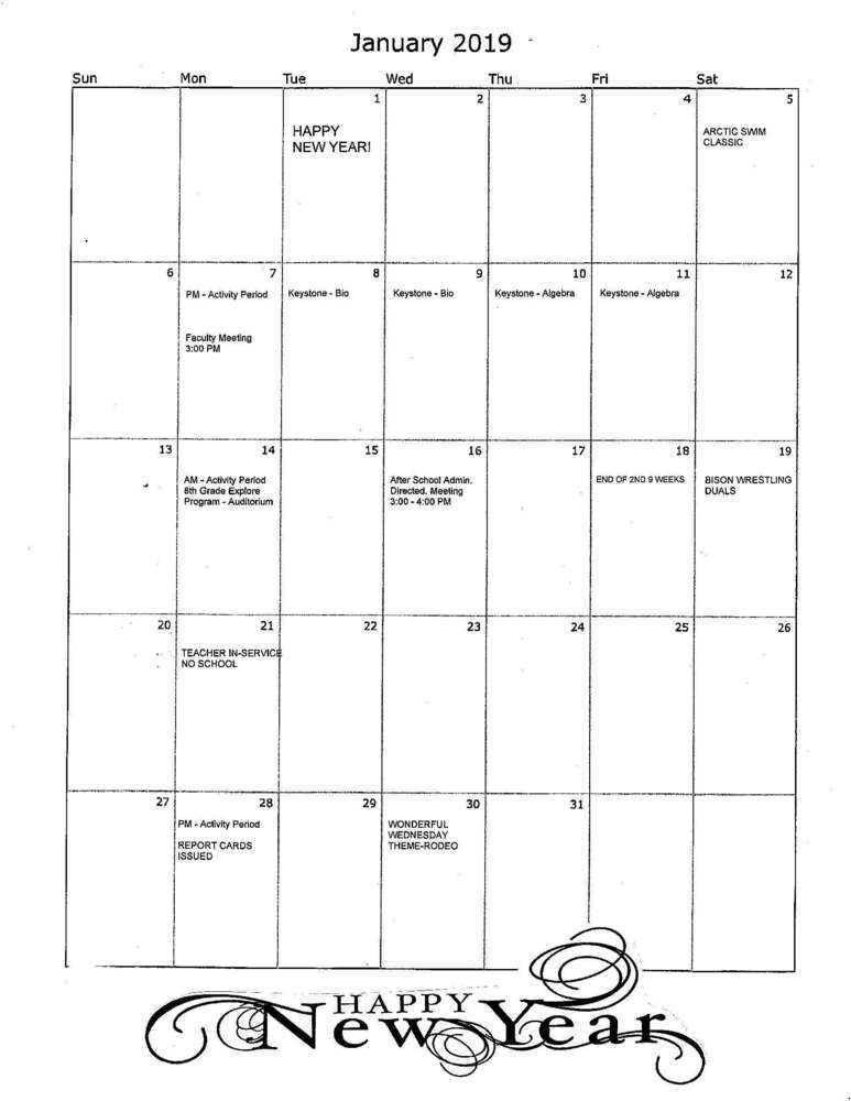 CAJSHS January Events Calendar