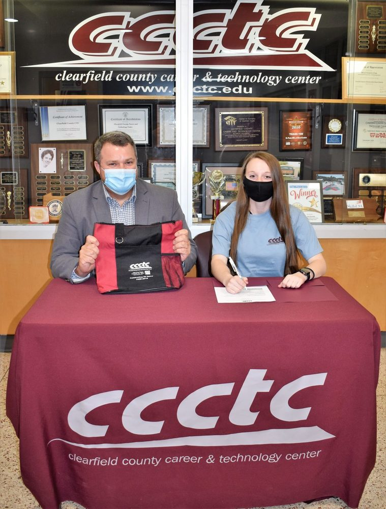 CCCTC Student Signs Letter of Intent