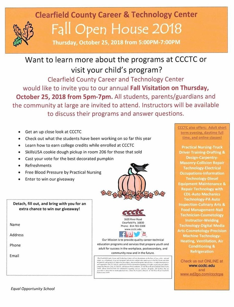 CCCTC Fall Open House