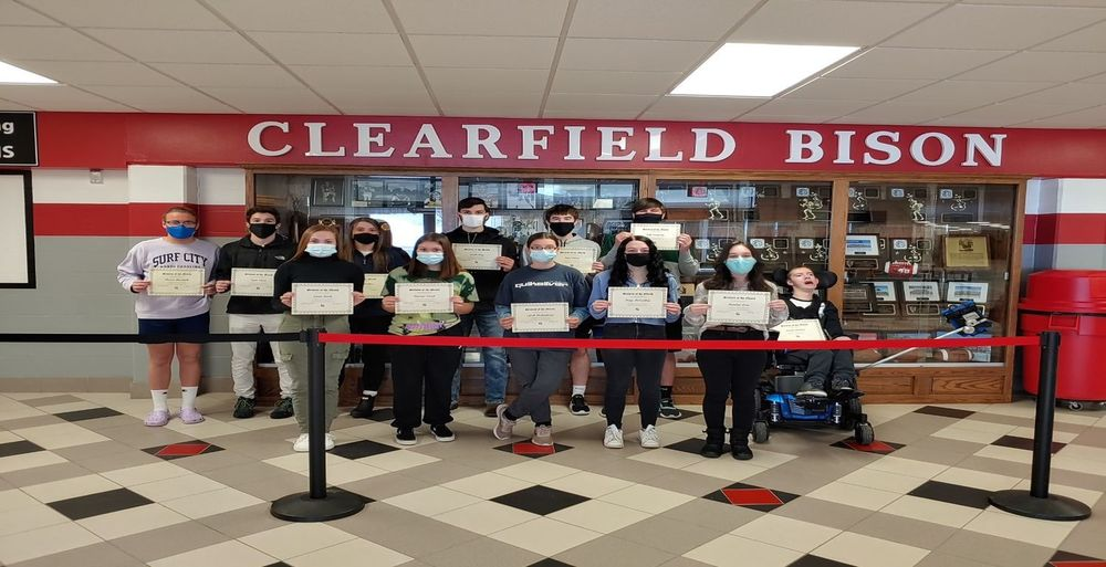Clearfield Area Junior/ Senior High School january Students of the Month Group B