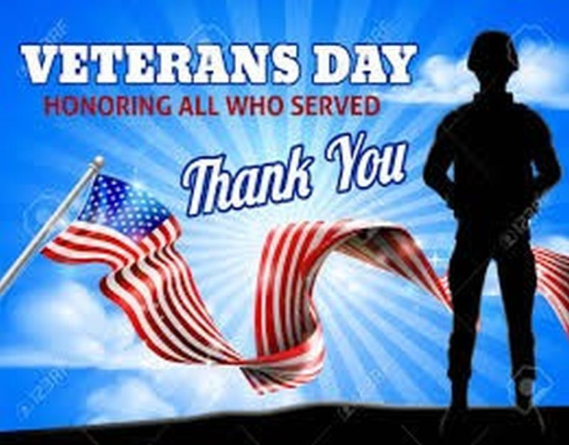 Veteran's Day Thank You