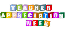 Teacher Appreciation Week is May 6-10, 2019
