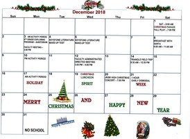 CAJSHS December Calendar of Events