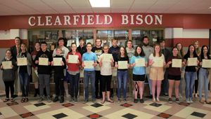 April Junior/ Senior High Students of the Month