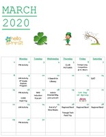 CAJSHS March 2020 Events Calendar