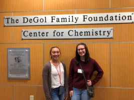 "Two female students from CAJSHS participate in ""Women in Chemistry Day"" at SFU"
