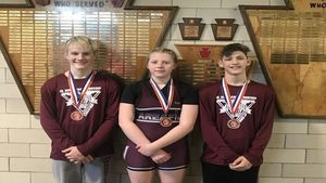 Clearfield Junior High Wrestlers Place at State Tourney