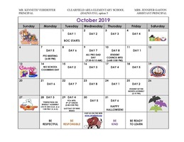 October 2019 CAES Calendar of Events