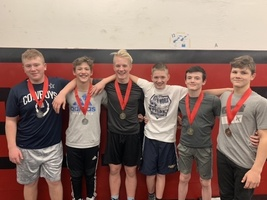 Bison Junior High Team has Six Placewinners at Juniata Tourney