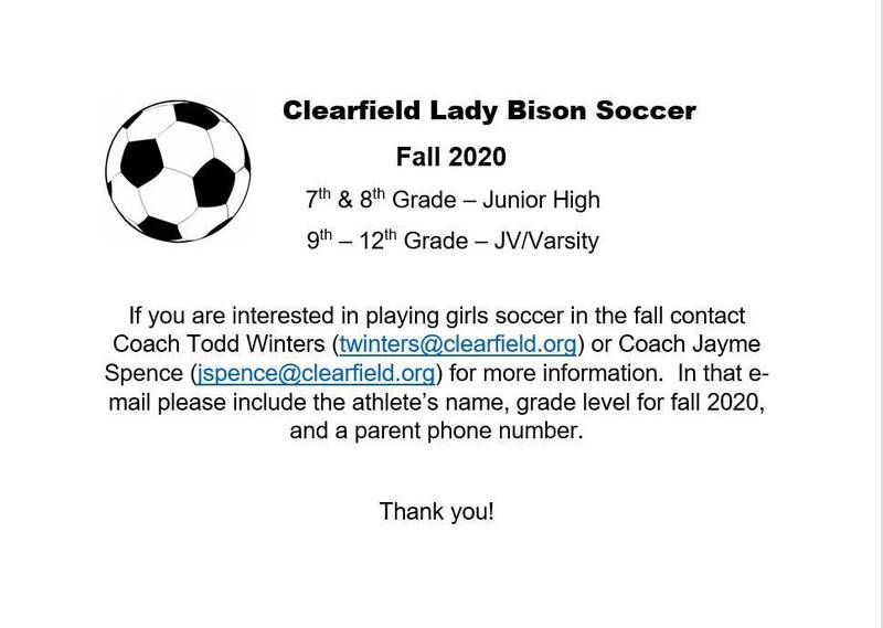 Lady Bison Soccer Sign Ups